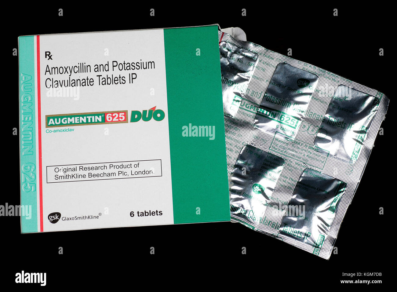Antibiotic Tablets Pack from the dispensing chemist - Stock Image