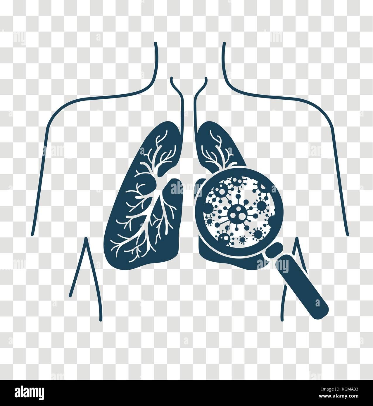 lung cancer vector logo icon stock photos amp lung cancer