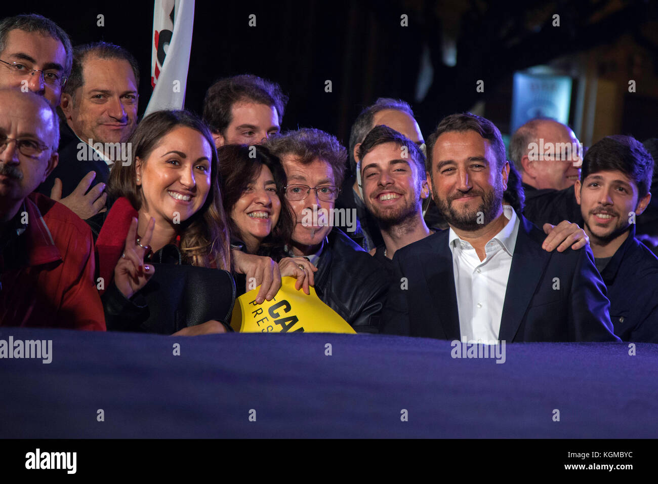 Giancarlo Cancelleri (Five Stars Movement) speaks during a electoral campaign on November 3 in Palermo, Italy. Stock Photo