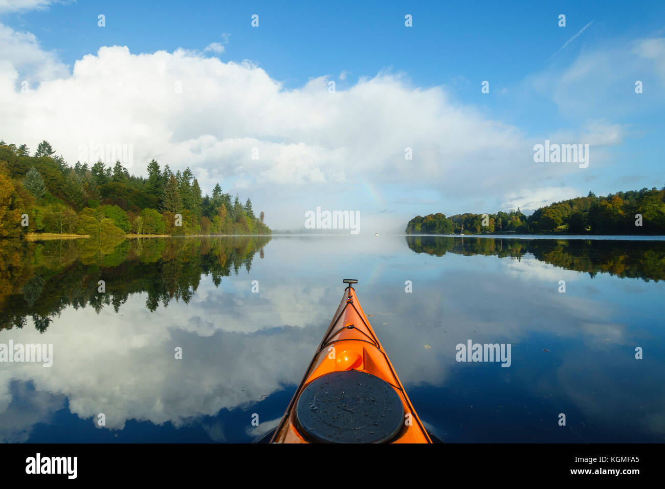 Kayaking on Loch Ken, Dumfries & Galloway, Scotland - Stock Image