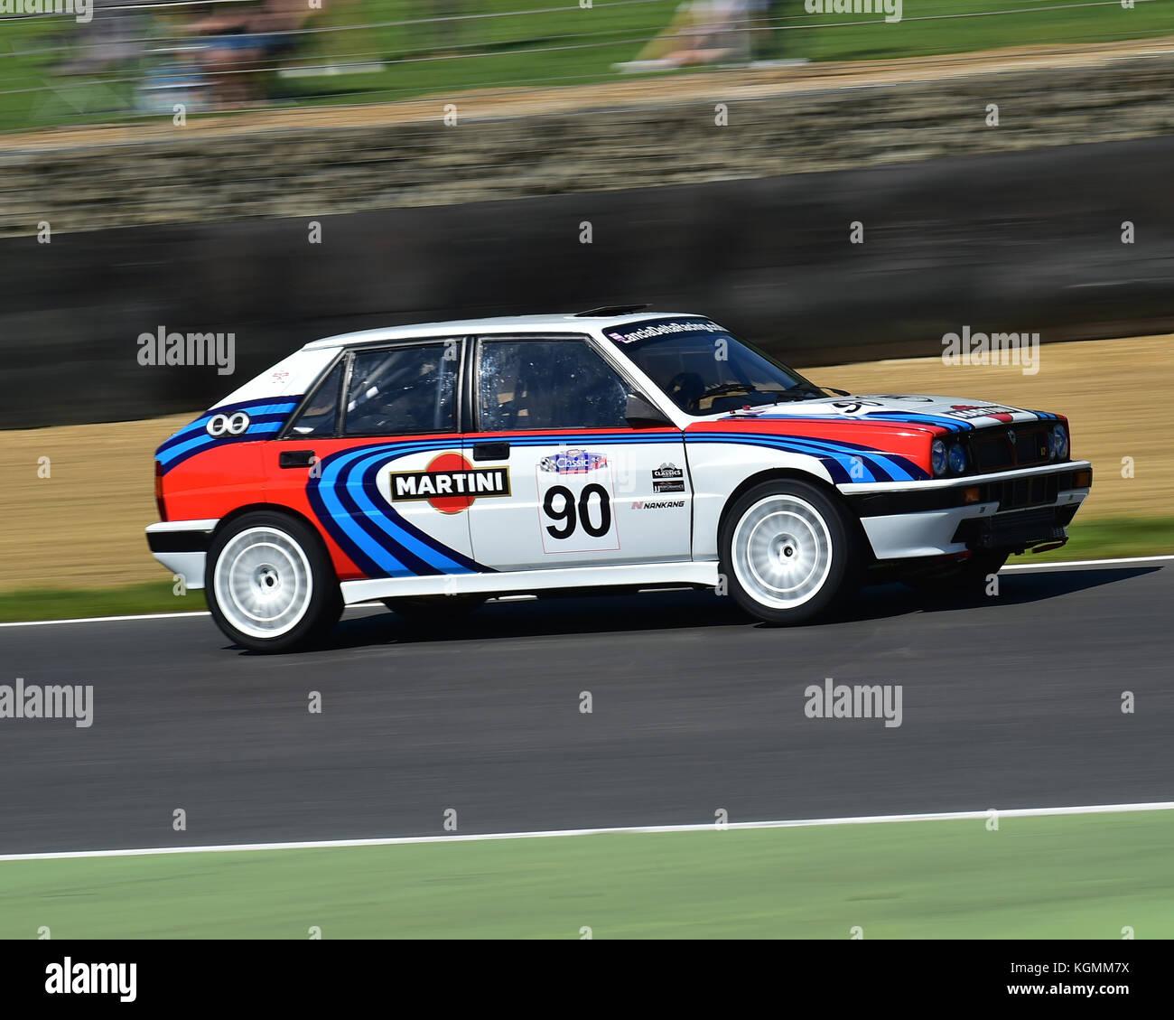 Richard Thurbin, Lancia Delta HF Integrale 16v, Italiano vs Inglese Allcomers Race, Festival Italia, Brands Hatch, - Stock Image
