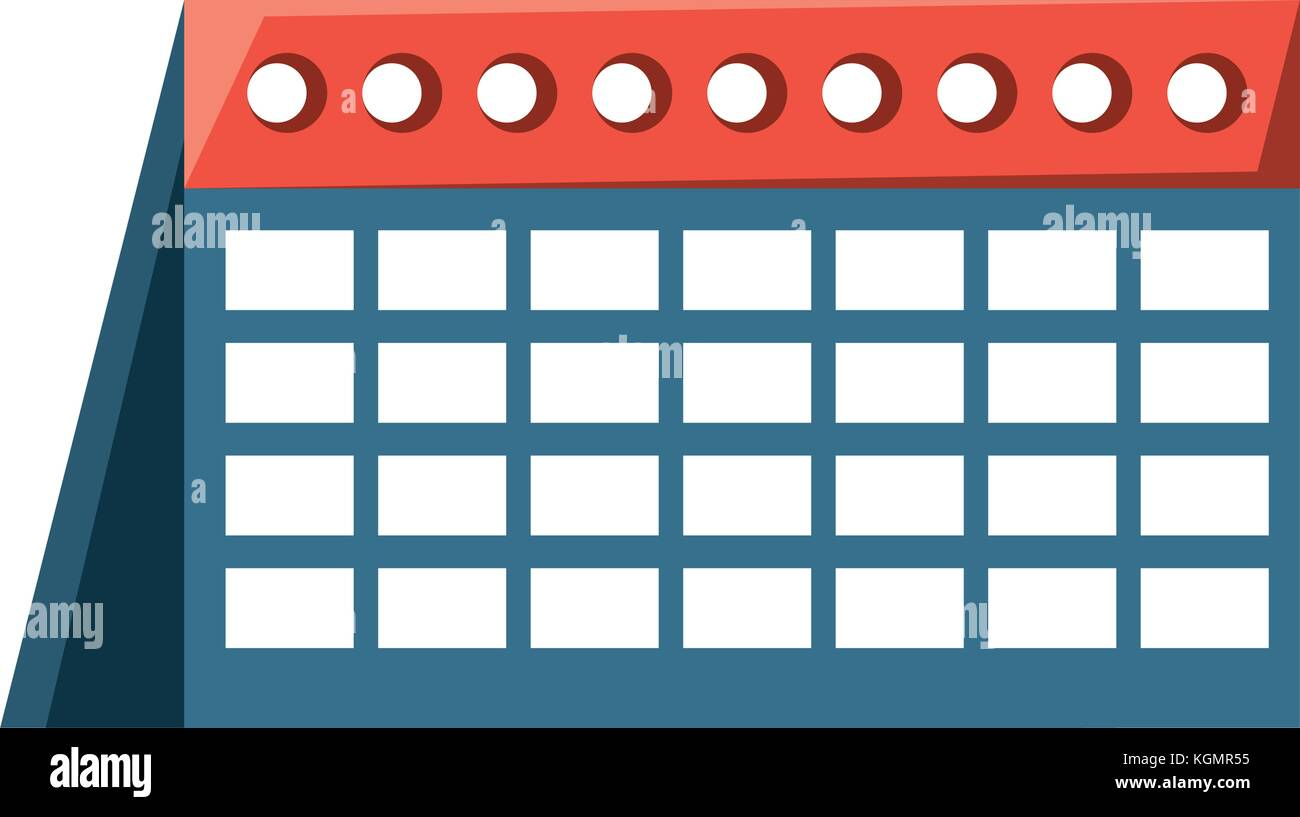 calendar icon image Stock Vector