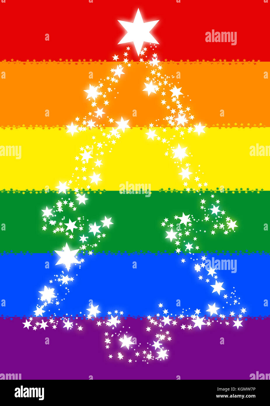 holiday rainbow flag gay interest gay pride christmas stock image - Gay Pride Christmas Decorations