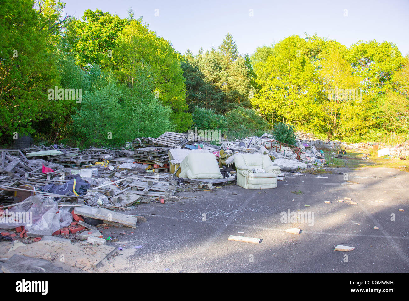 Fly Tipping is a growing issue in the UK - Stock Image