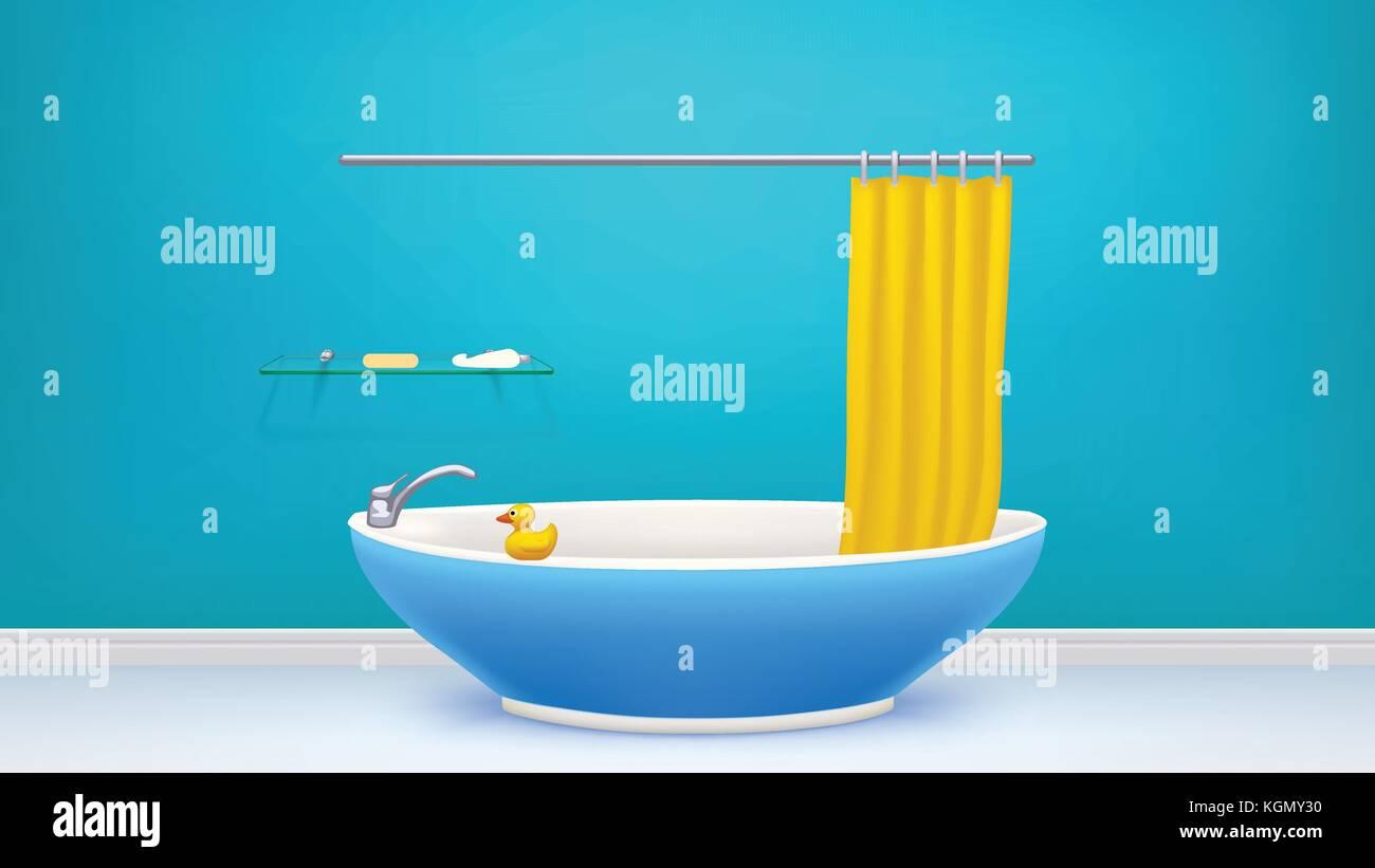 Clawfoot Bathtub Stock Vector Images - Alamy