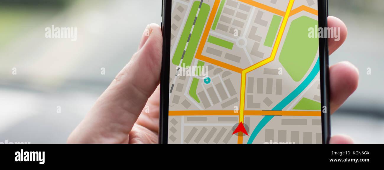 GPS Navigation on Mobile Phone Device and Transportation