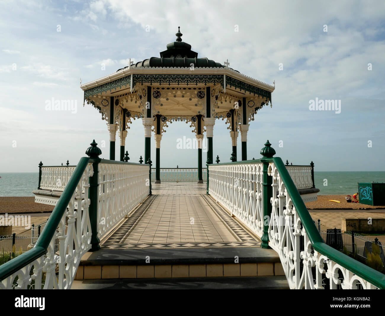 Bandstand on Brightons seafront England - Stock Image