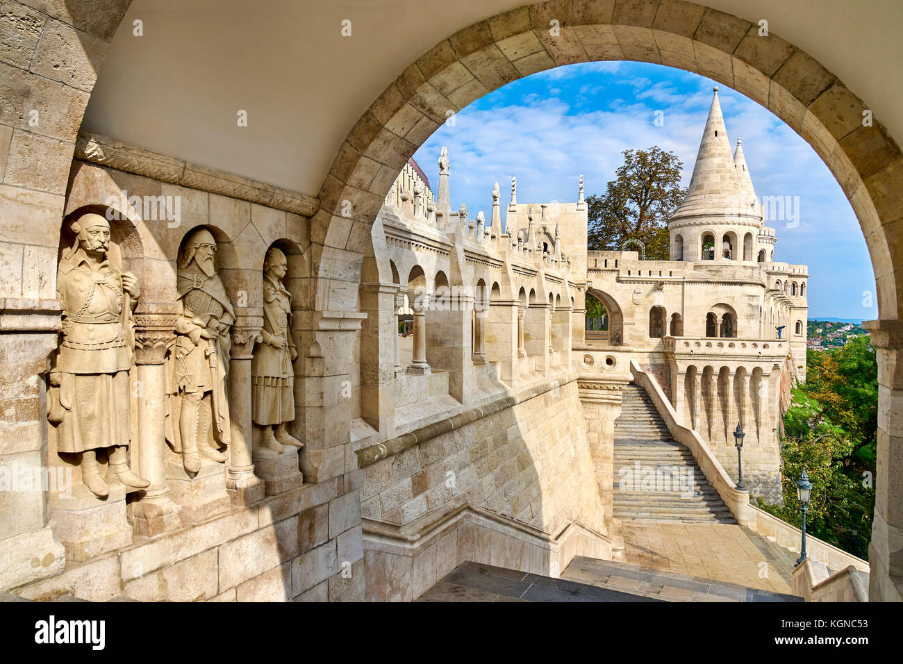 Fishermen Bastion, Budapest, Hungary Stock Photo