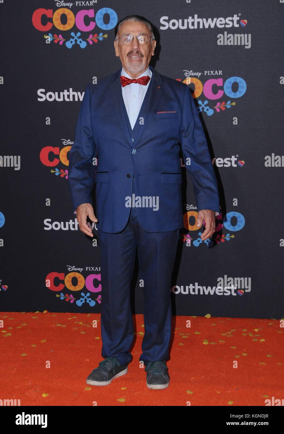 Hollywood, CA, USA. 6th Nov, 2017. 06 November 2017 - Hollywood, California - Alfonso Arau. Disney Pixar's ''Coco'' - Stock Image