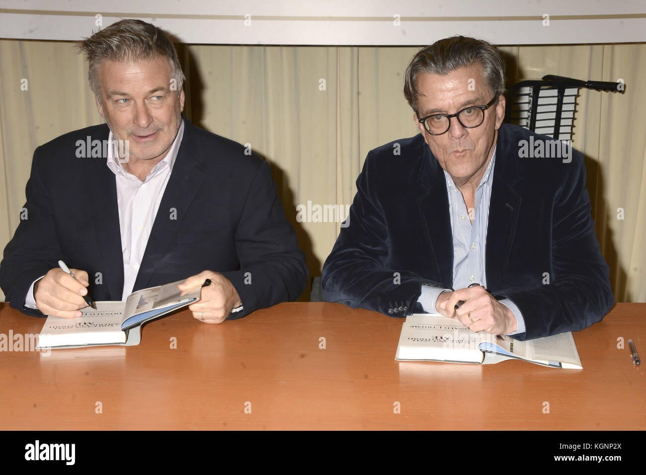 Alec Baldwin and Kurt Andersen at a booksigning of their book 'You Can't Spell America Without Me - The Really Tremendous Stock Photo