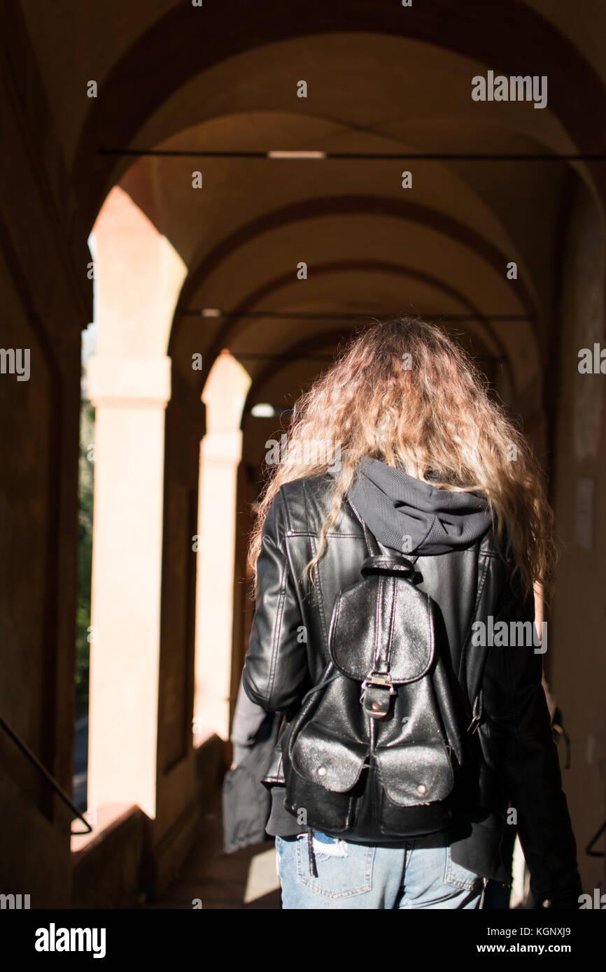 Walking around Bologna - Stock Image
