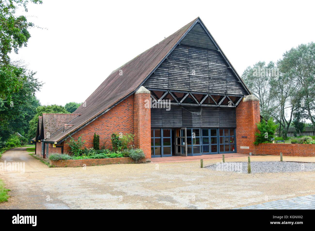Guesten Hall at Avoncroft Museum of Buildings, Stoke Heath, Bromsgrove, Worcestershire, England, UK - Stock Image