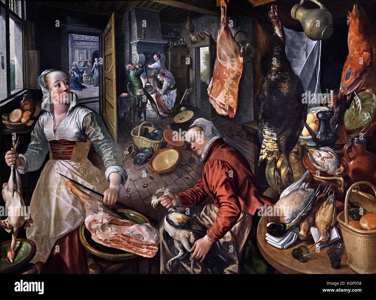 The Four Elements : Fire  1570 Joachim Beuckelaer 1533 - 1575 Flemish Belgium Belgian - Stock Image