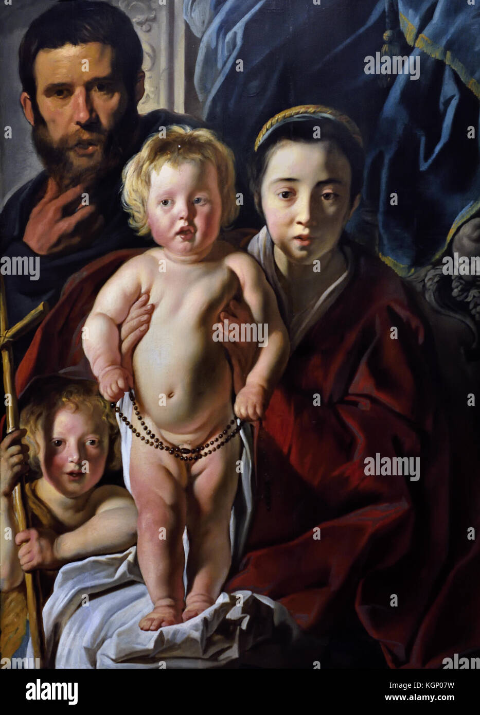 The Holy Family and Saint John the Baptist 1620-5, Jacob Jordaens 1593 - 1678 Jacob (Jacques) Jordaens  1593 –1678 - Stock Image