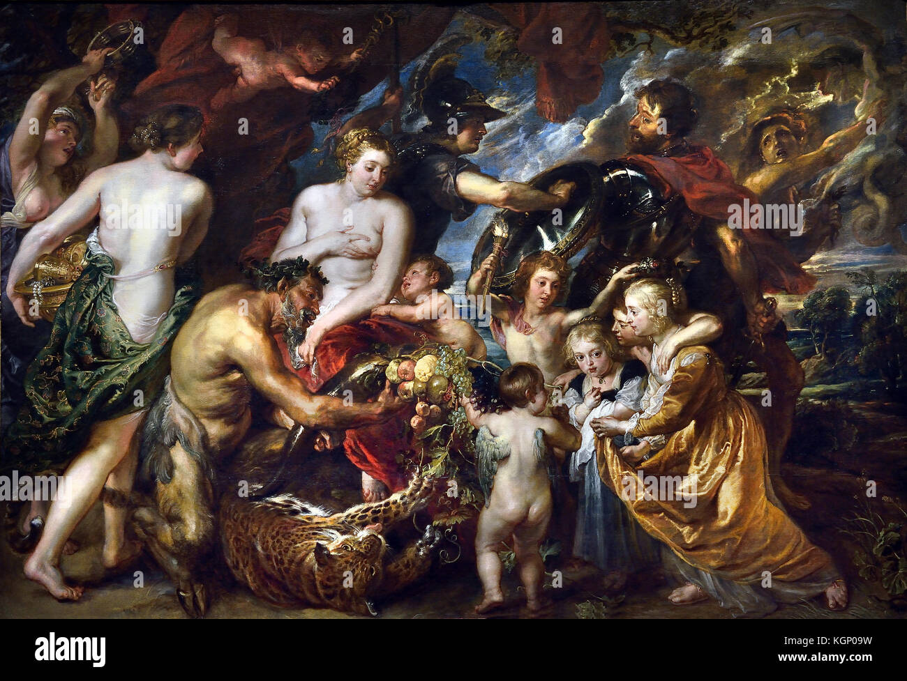 Minerva protects Pax from Mars ('Peace and War') 1629-30 Peter Paul Rubens (1577–1640) Painter in the Flemish - Stock Image