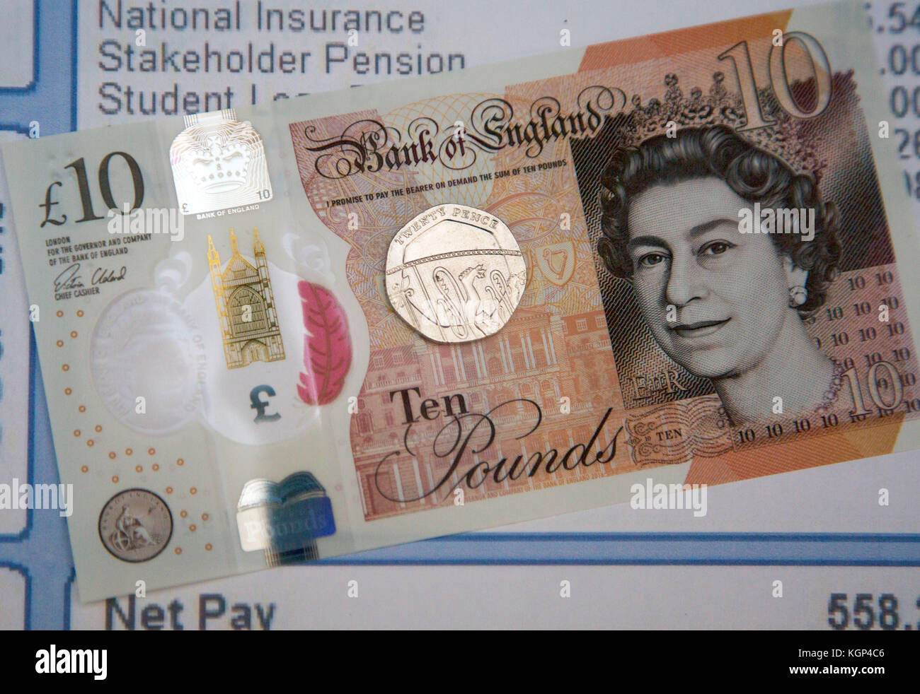 London Living Wage increases to £10.20 per hour announced 6th November 2017 - Stock Image