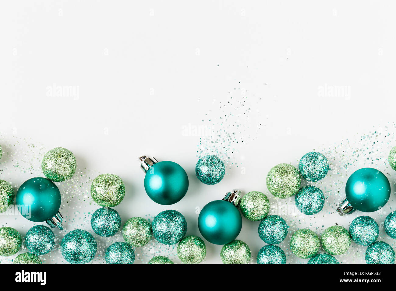 Beautiful, bright, modern, blue and green Christmas holiday