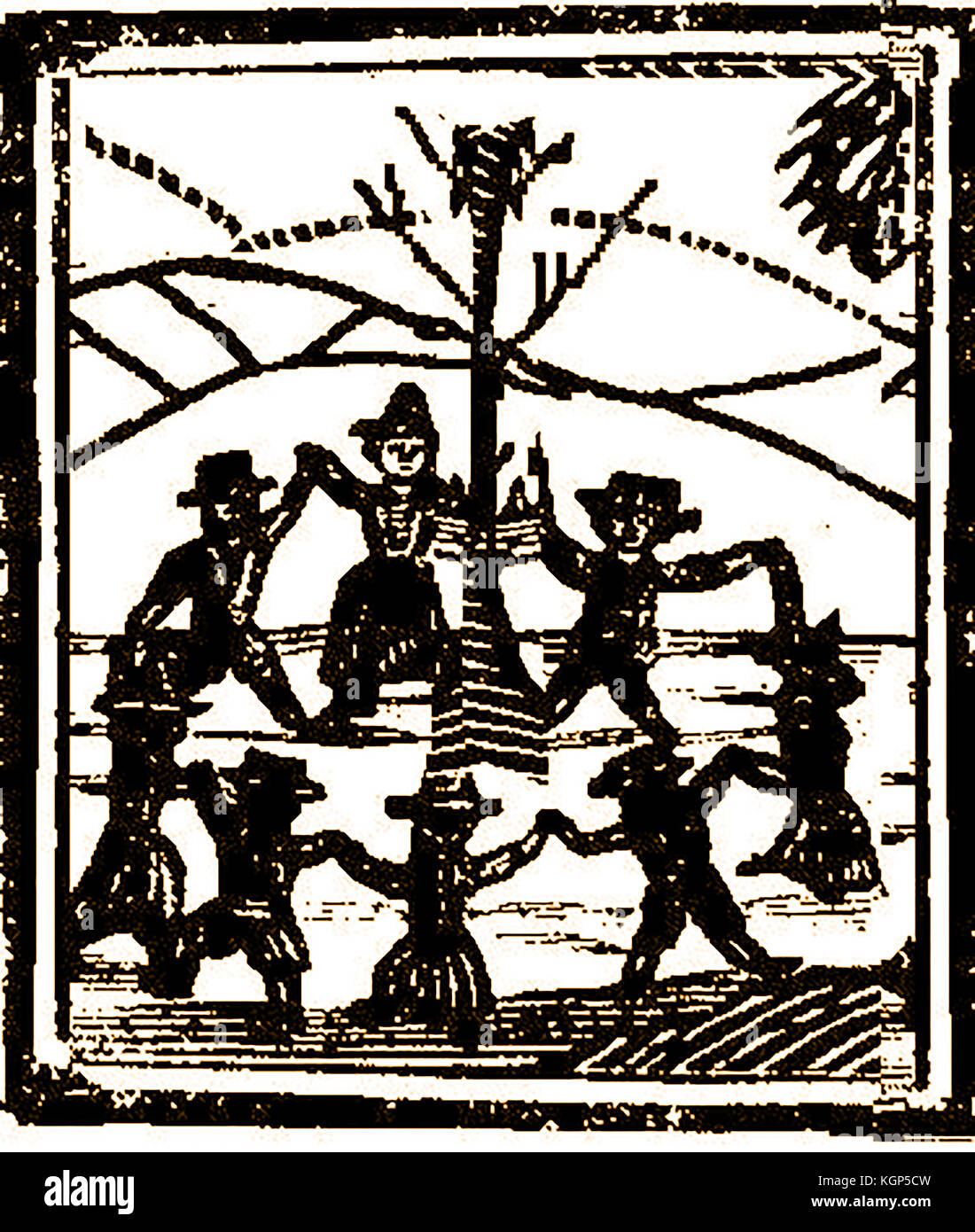 Coven of witches stock photos coven of witches stock images alamy an disputed 18th century woodcut showing either a witches coven or revellers dancing round a maypole biocorpaavc Images