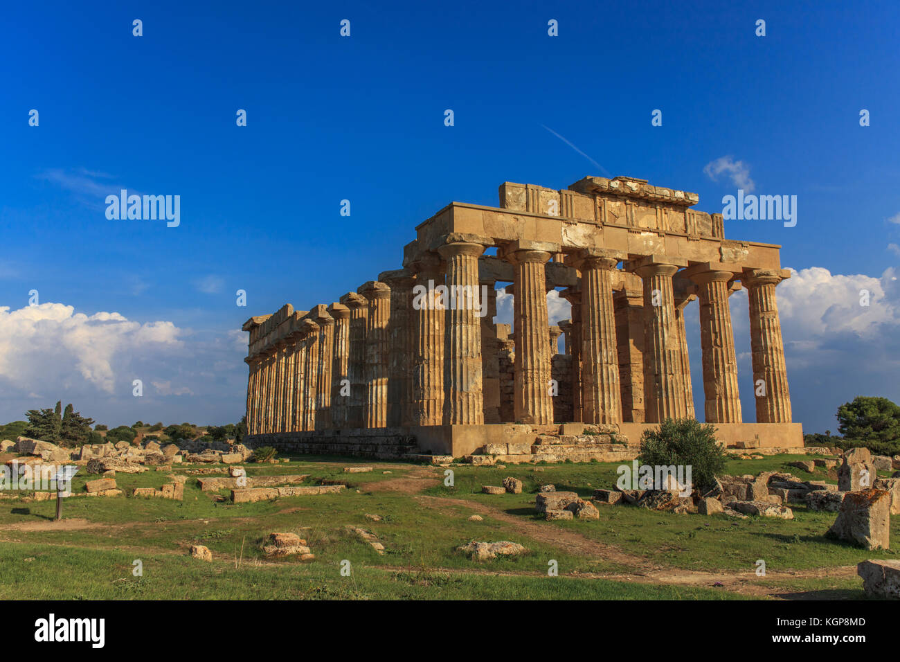 The temples of Selinunte - Stock Image
