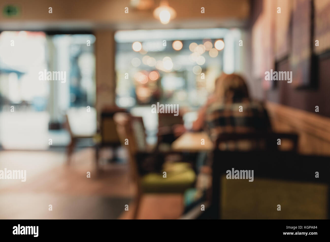 blurred background of Crowded street in Cambridge, UK - Stock Image