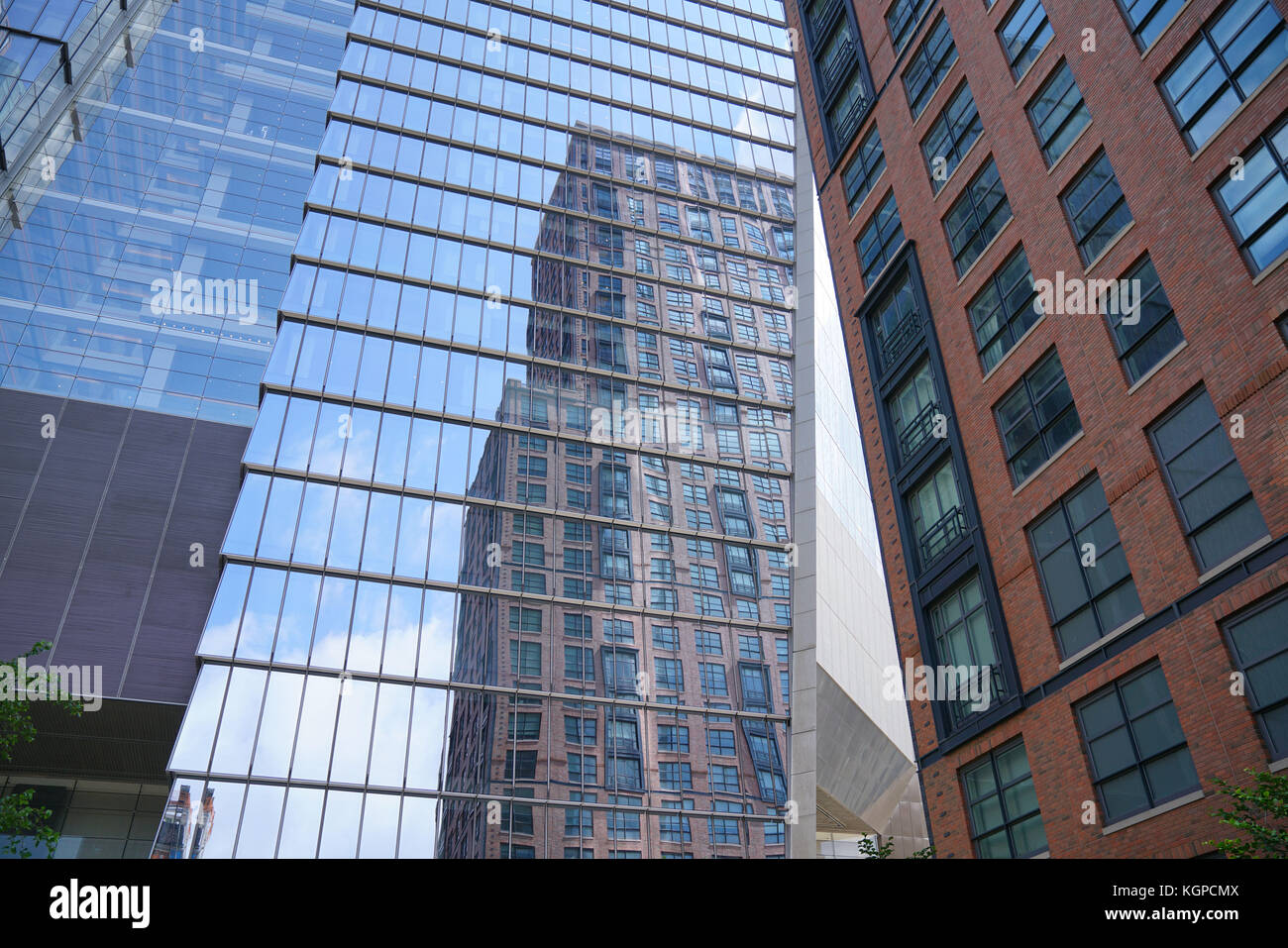 View of skyscrappers form the NYC Highline - Stock Image