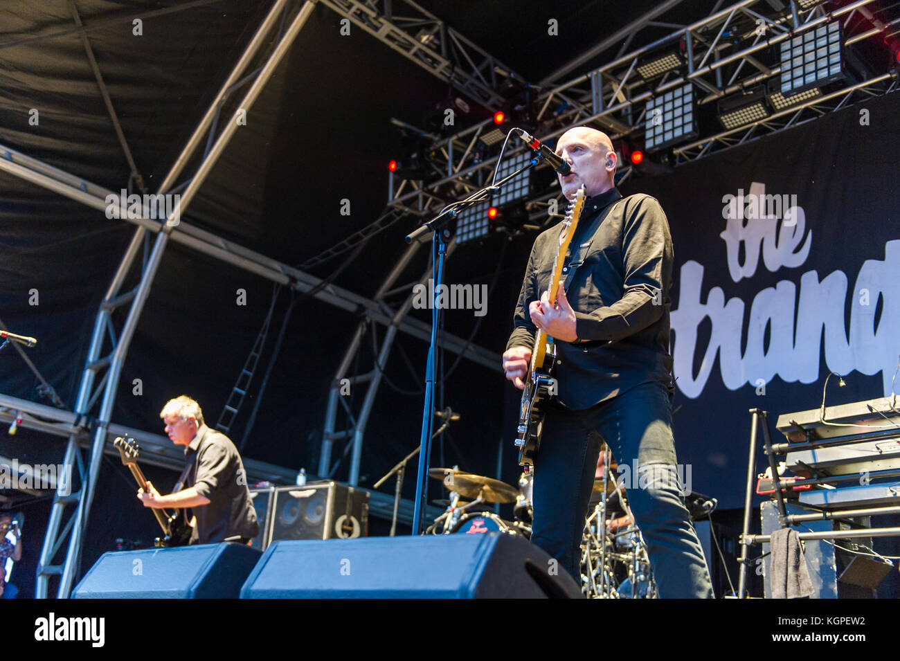 The Stranglers on stage at the Godiva Festival, Coventry, UK in July 2017. - Stock Image