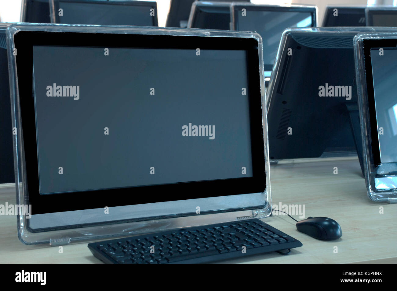 Computer Lab - Stock Image