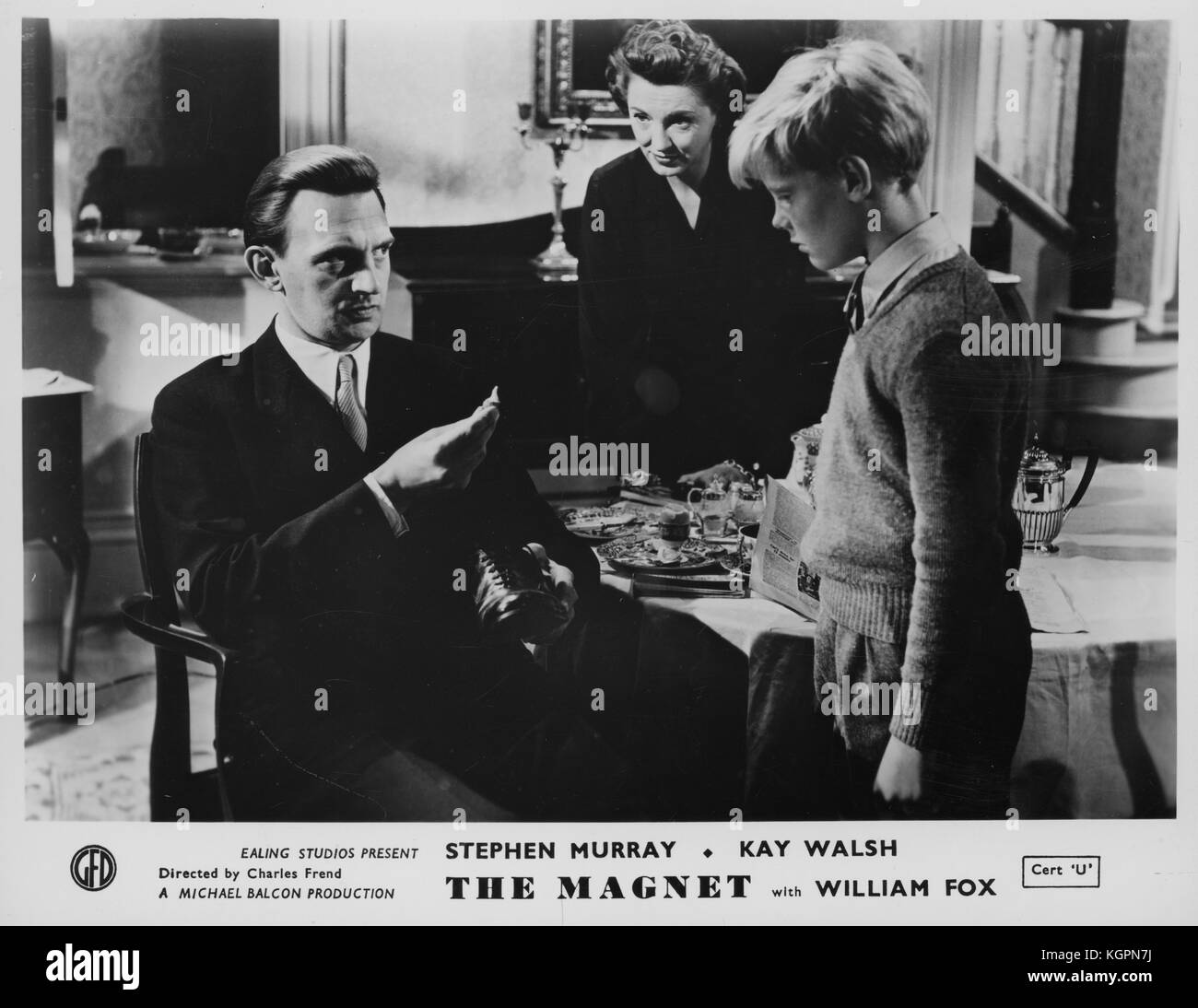 The Magnet (1950) , James Fox (then billed as William)  , Kay Walsh  , Stephen Murray - Stock Image