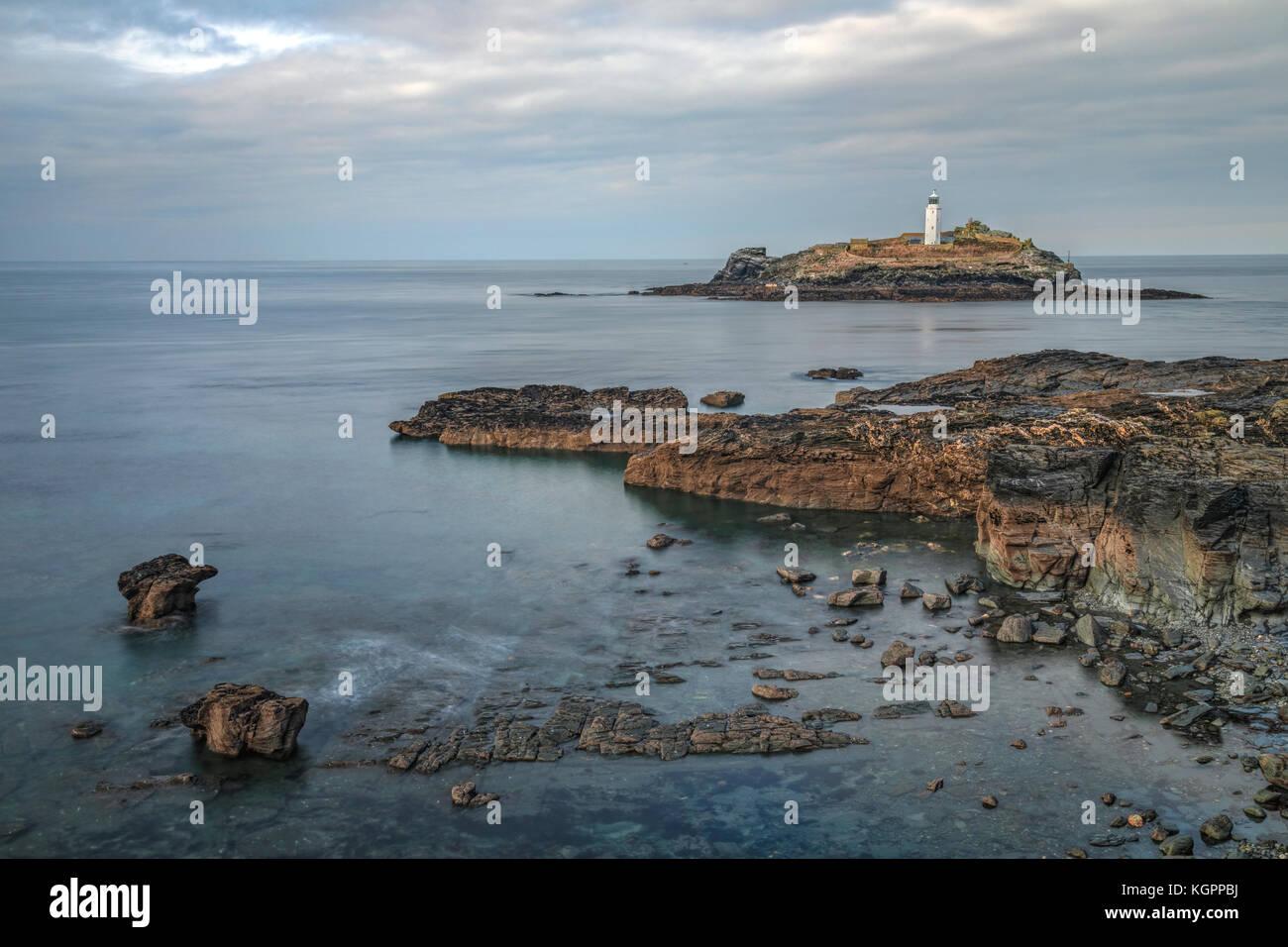 Godrevy Lighthouse Cornwall Stock Photos Amp Godrevy