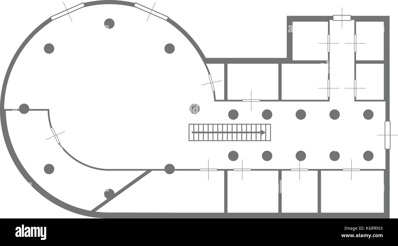 Architecture model blueprint black and white stock photos images blueprint house round stock image malvernweather Image collections