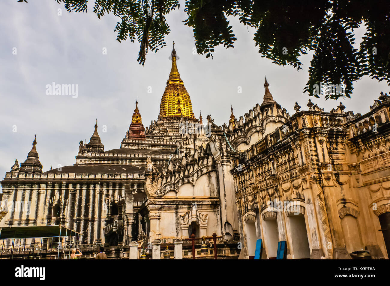 The Ananda Temple from outside, Old Bagan, Myanmar - Stock Image