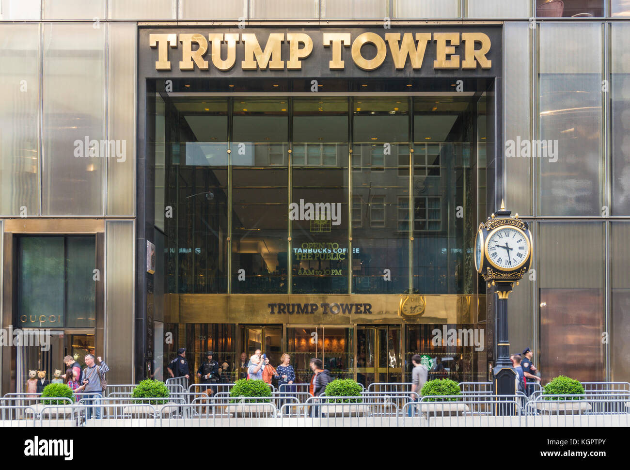 trump tower New york usa new york trump tower exterior facade with security barriers Midtown Manhattan new york - Stock Image
