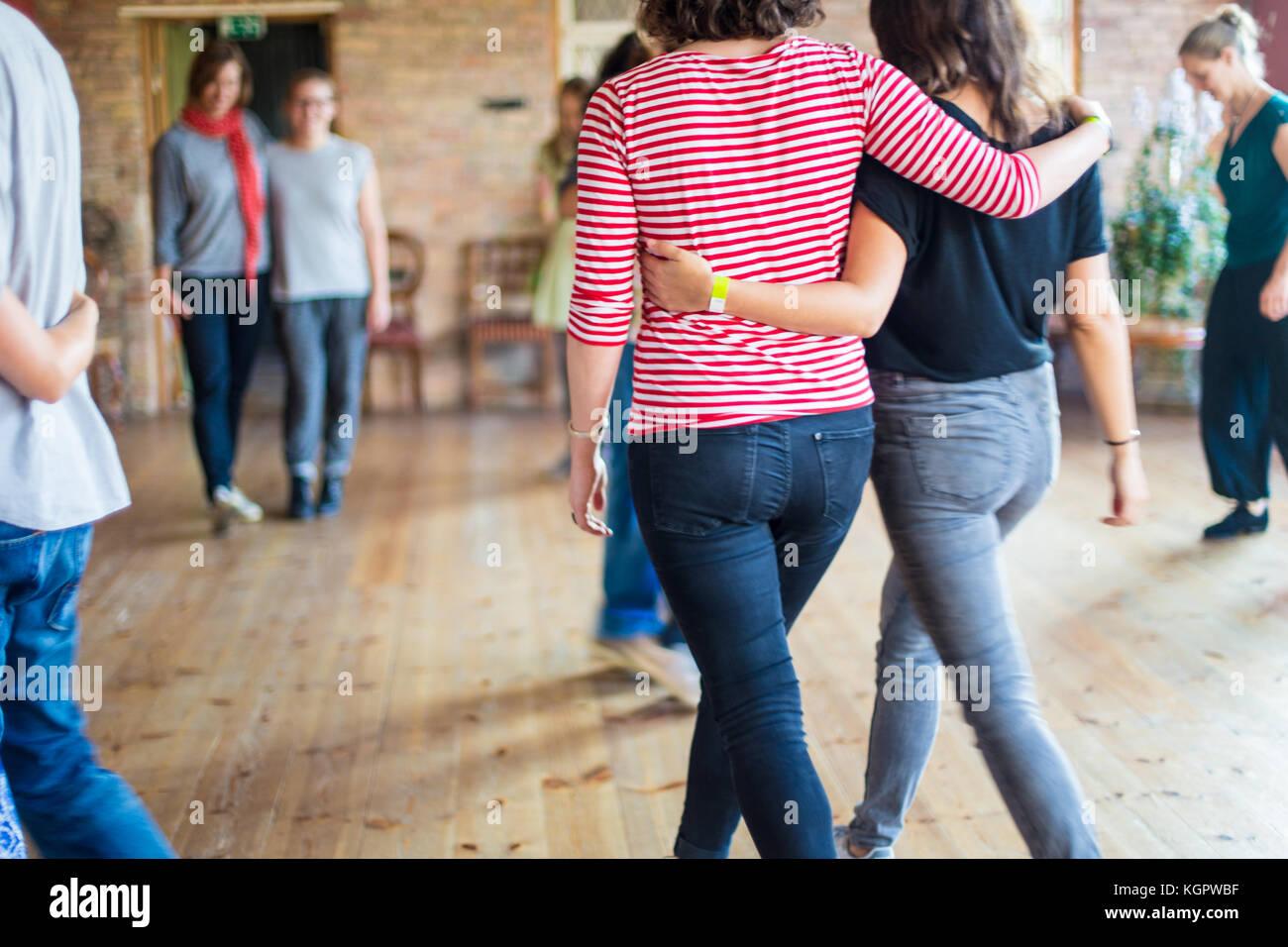 Trust the dance - Stock Image