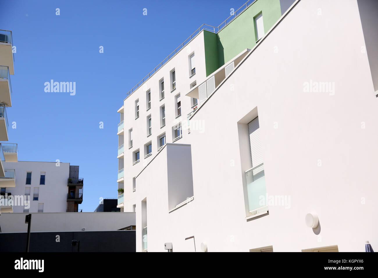 Closeup of modern buildings - Stock Image