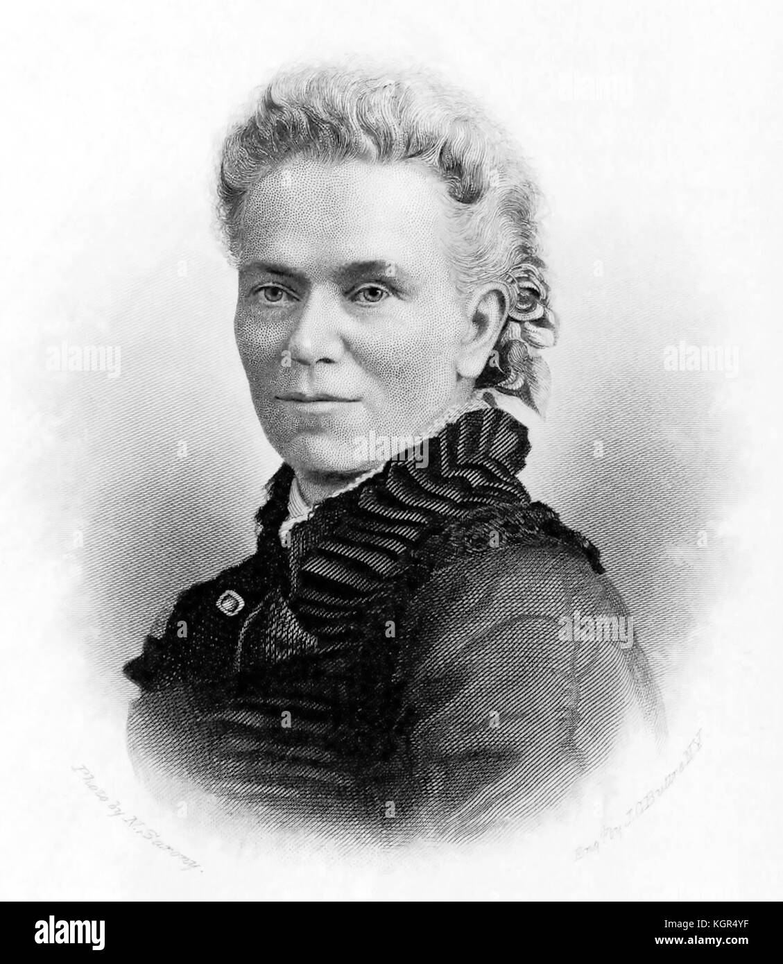 MATILDA GAGE (1826-1898) Native American rights activist - Stock Image