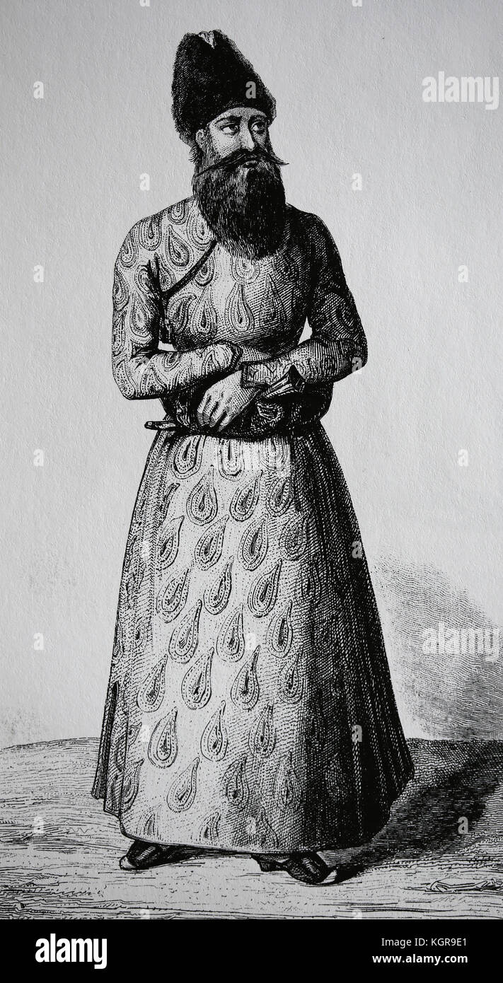 Asia. Persia. Persian prince, 19th century. - Stock Image