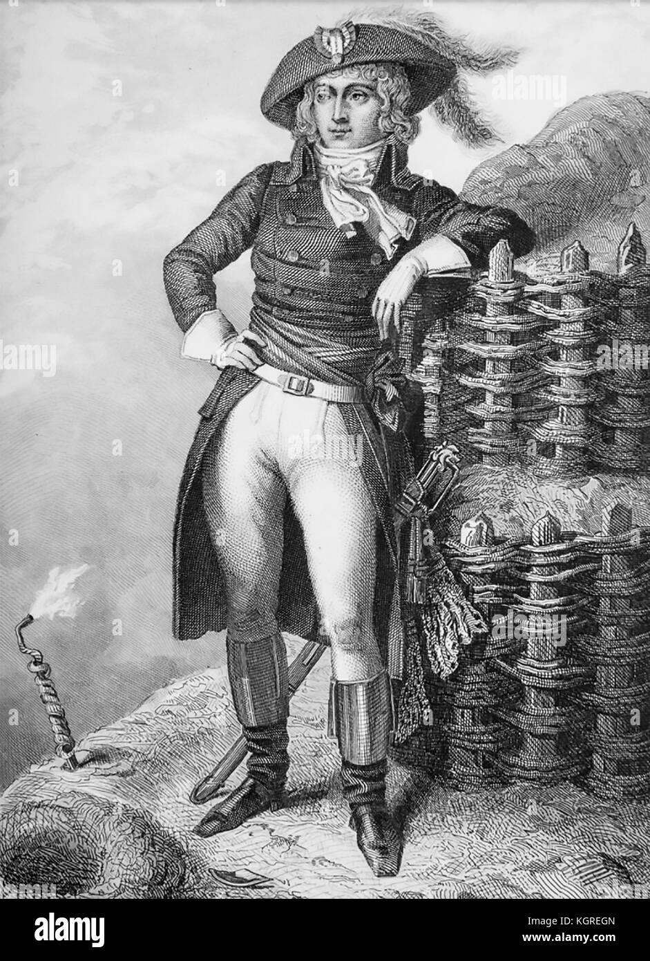 NAPOLEON BONAPARTE (1769-1821) at the Siege of Toulon in 1793 - Stock Image