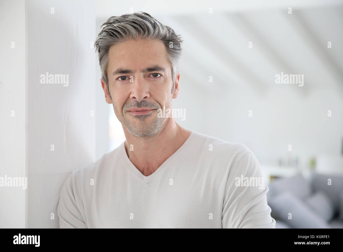 Portrait of attractive 50-year-old man Stock Photo: 165244857 - Alamy