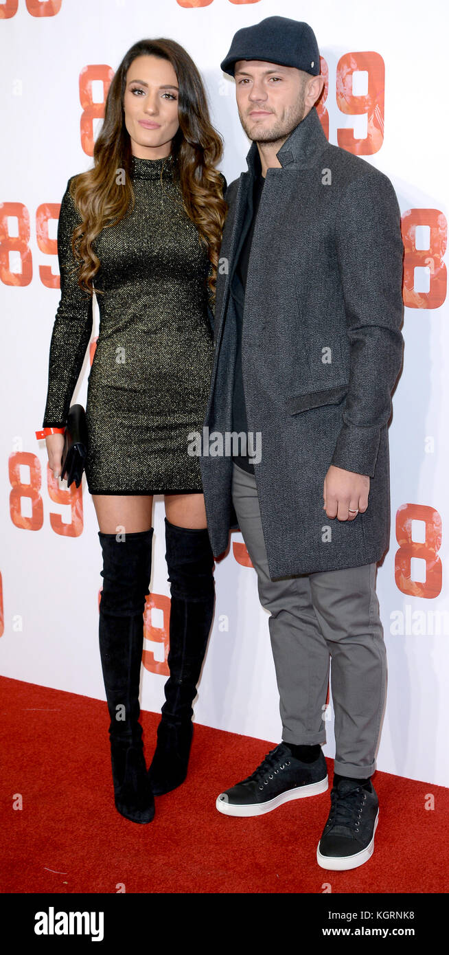 Photo Must Be Credited ©Alpha Press 078237 08/11/2017 Andriani Michael and Jack Wilshere at the 89 World Movie - Stock Image