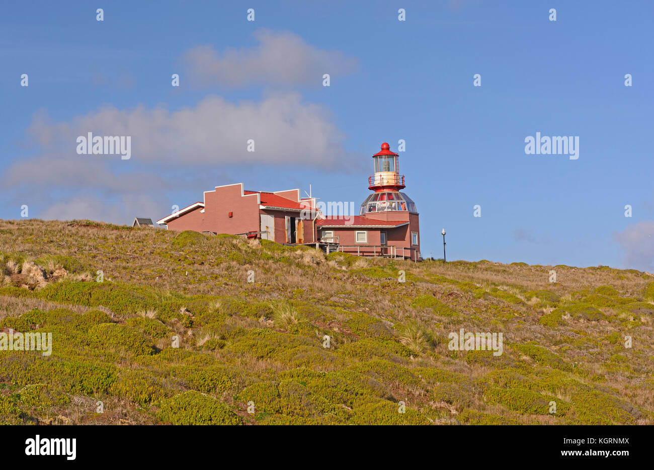 Cape Horn Lighthouse in Tierra del Fuego, Chile - Stock Image