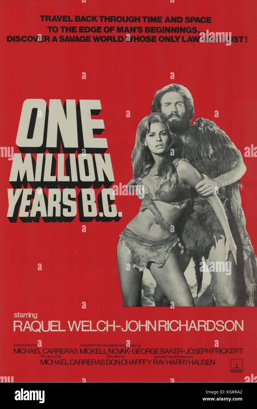 One million years b. C. (1966) film poster, john richardson date.