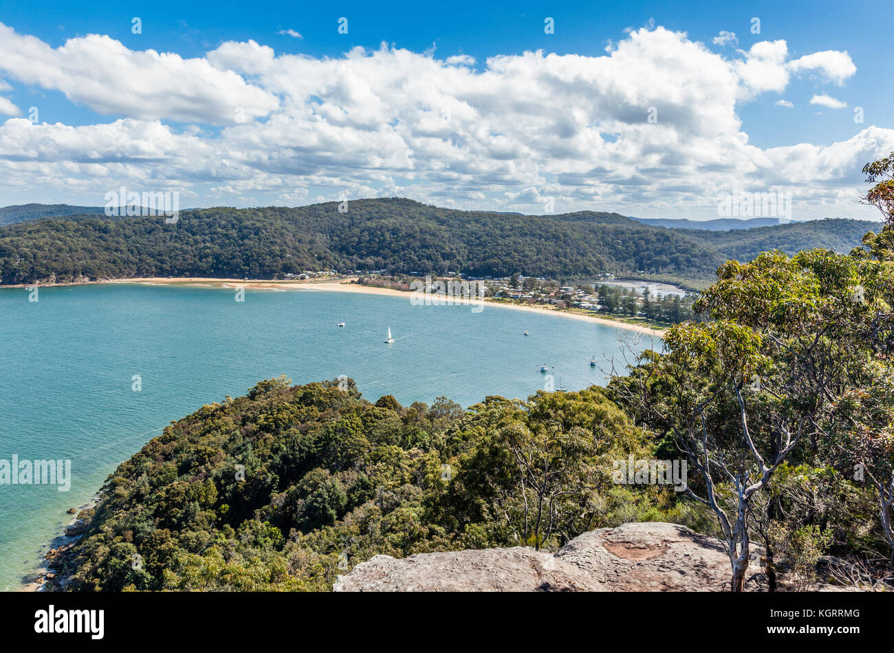 Australia, New South Wales, Central Coast, Brisbane Water National Park, view of the Hawkesbury River; brisk Bay - Stock Image
