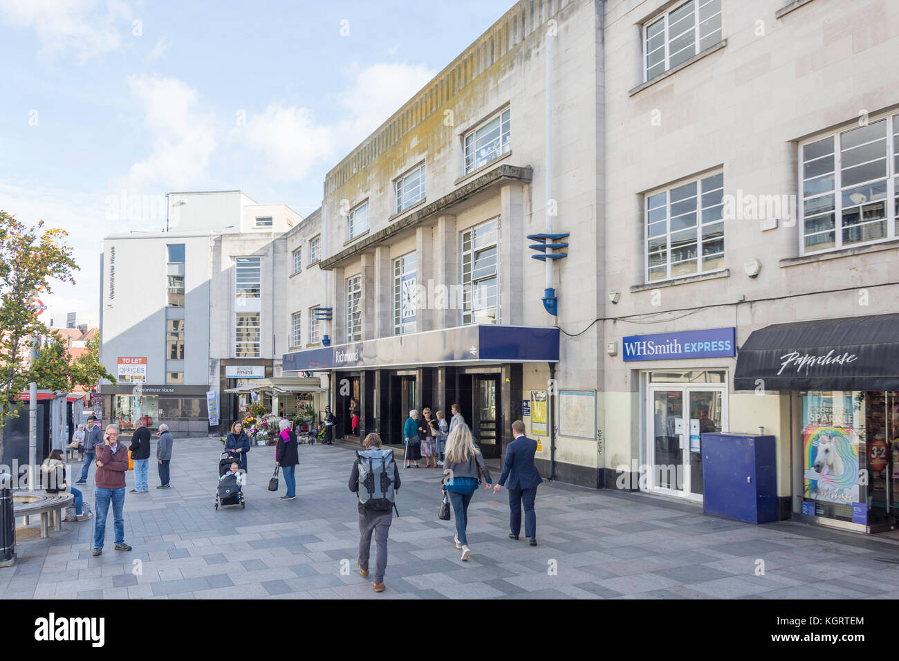 Entrance to Richmond Underground Station, Richmond, London Borough of Richmond upon Thames, Greater London, England, - Stock Image