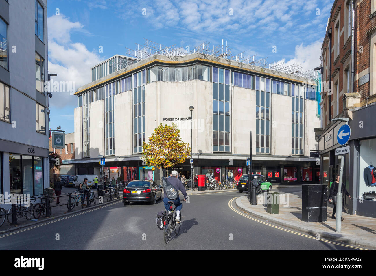 House of Fraser department store, George Street, Richmond, London Borough of Richmond upon Thames, Greater London, - Stock Image