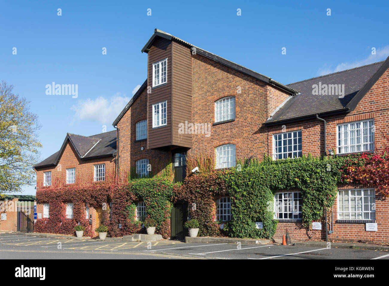 The Old Mill House on River Colne, Horton Road, Stanwell Moor, Surrey, England, United Kingdom - Stock Image