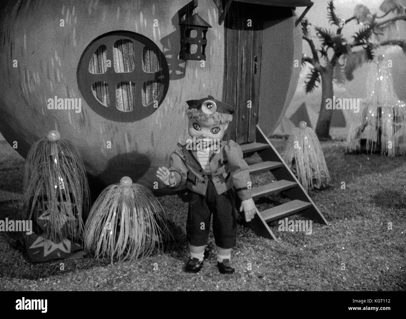 Torchy the Battery Boy (1957) TV series , Series One, Episode Five, Torchy and the Broken Rocket , Torchy voiced - Stock Image
