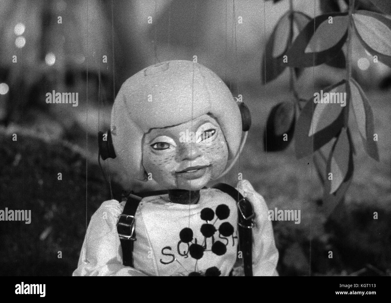Torchy the Battery Boy (1957) TV series , Series One, Episode Five, Torchy and the Broken Rocket , Squish the Spaceboy - Stock Image
