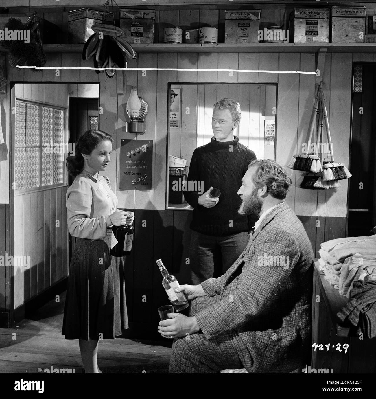 Whisky Galore (1949), Gordon Jackson, Gabrielle Blunt, James Robertson Justice - Stock Image