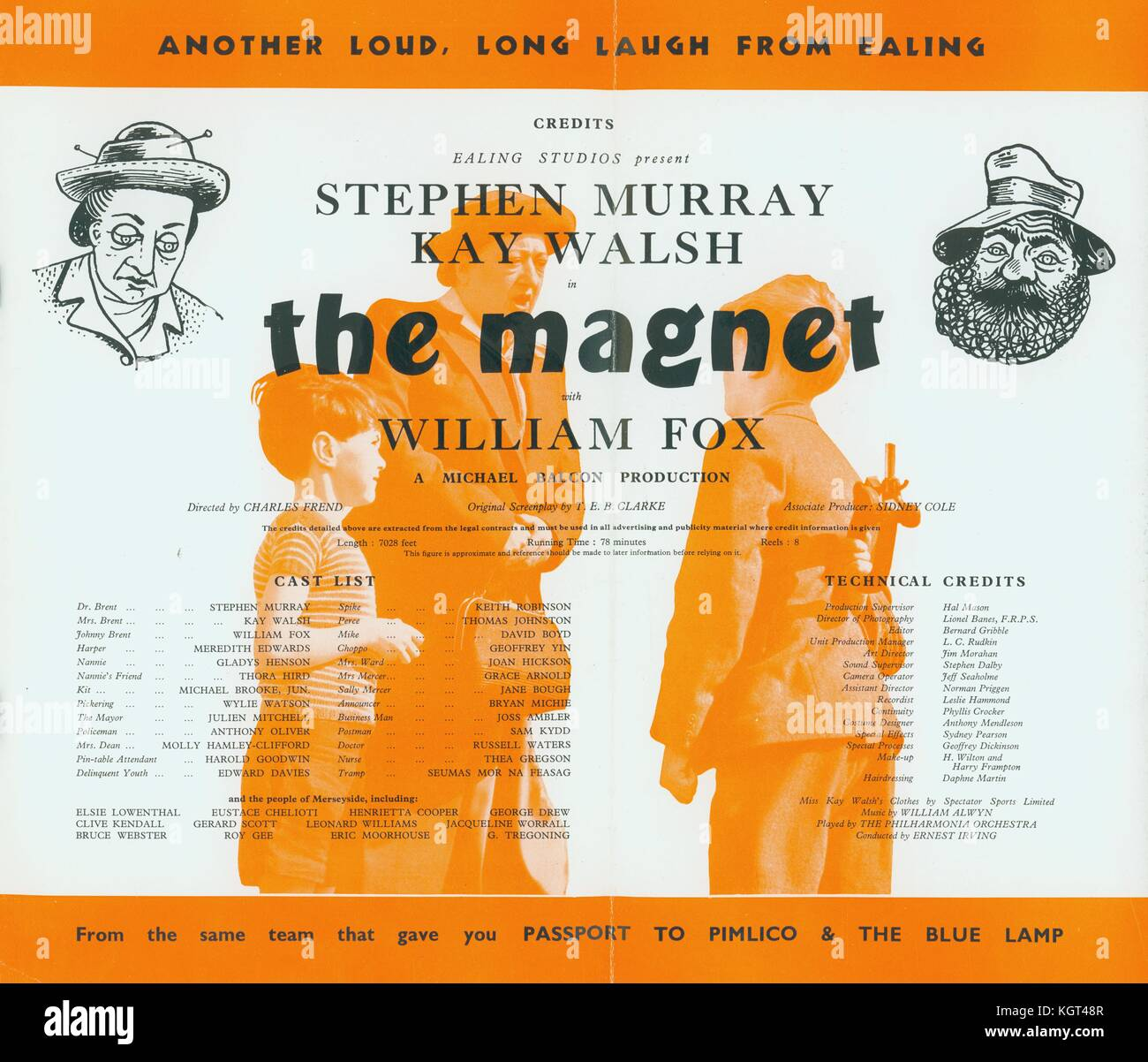 The Magnet (1950)  , Film poster - Stock Image