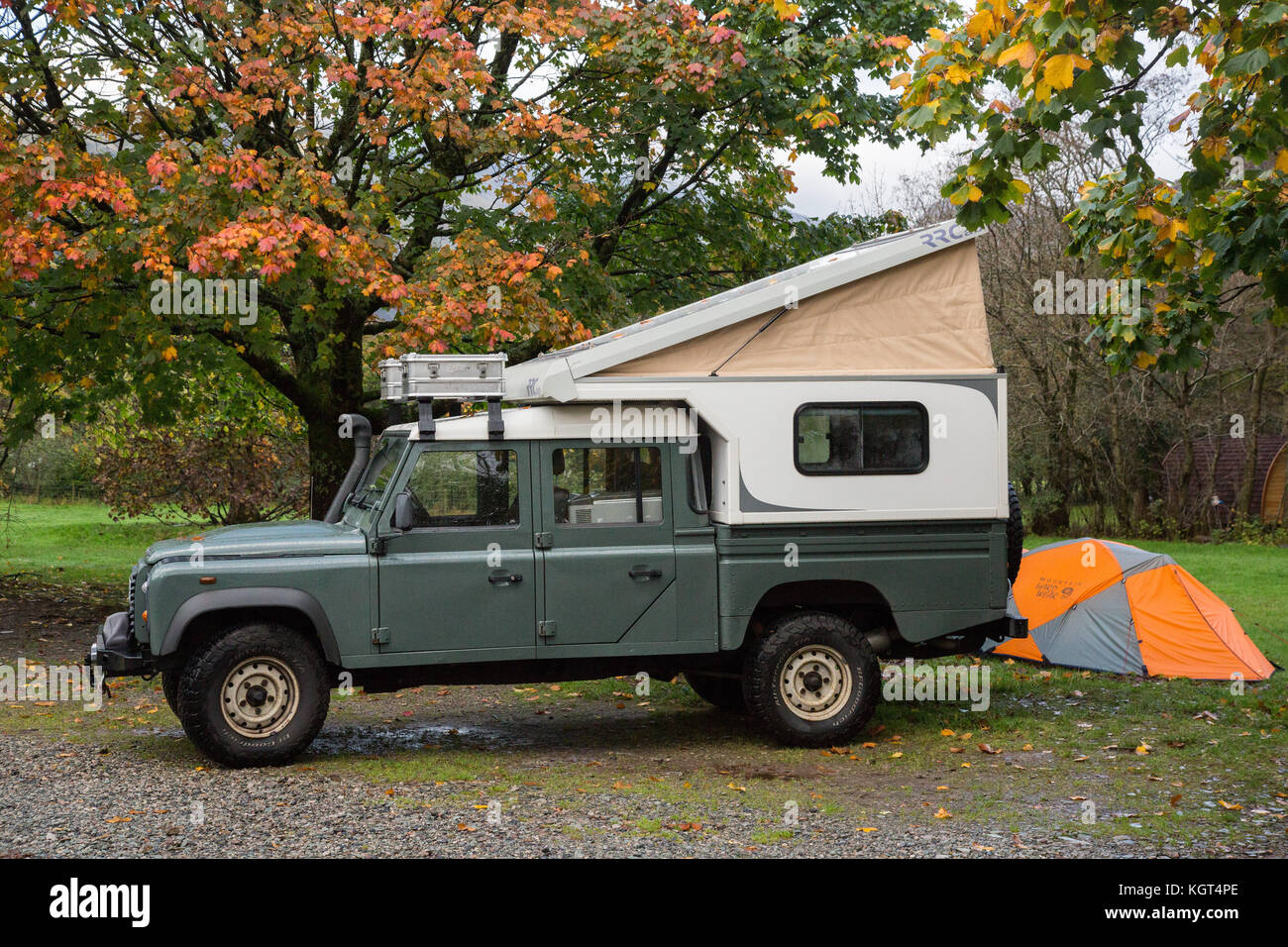 Land Rover 4x4 Camper Van Conversion Stock Photo Alamy